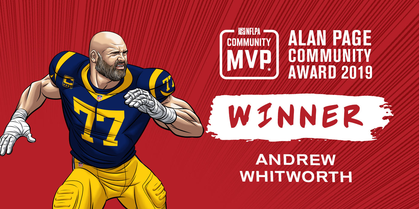 new product a01cf 1b994 NFL Players Association - ANDREW WHITWORTH NAMED 2019 ALAN ...