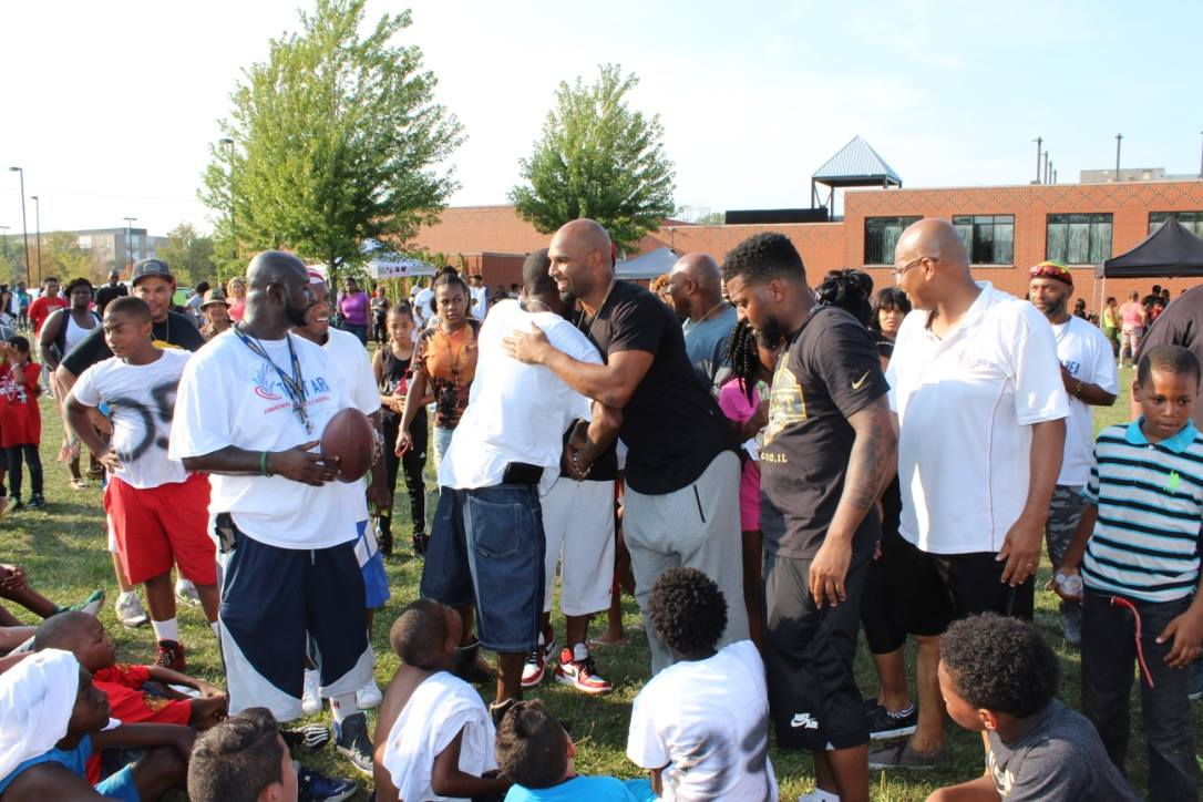 Matt Forte at his Back To School Giveaway