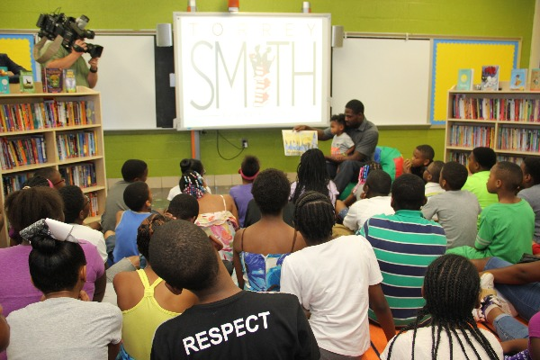 9c40de12571 NFL Players Association - Torrey Smith Brings Reading Room to ...