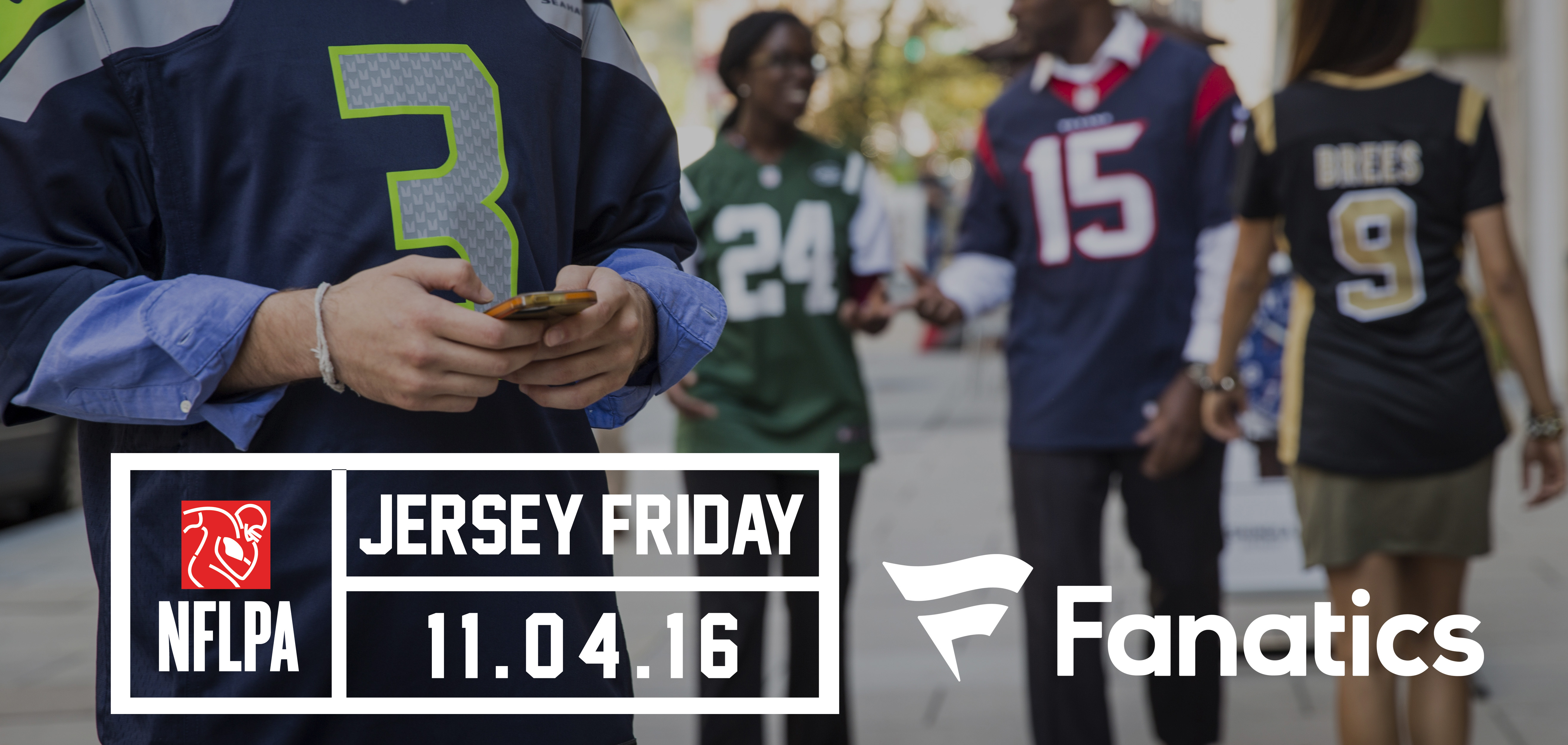 """ec3eae15b NFL Players Association and Fanatics Announce Second Annual """"National Jersey  Friday"""" on Nov. 4"""
