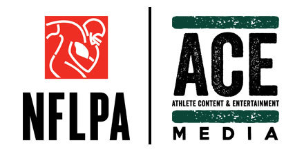 NFLPA and ACE Media logos side by side.